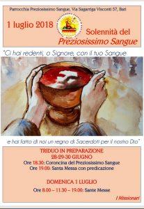 SOLENNITÀ DEL PREZIOSISSIMO SANGUE