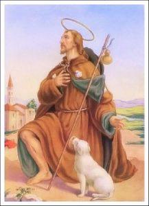 Memoria di San Rocco. Benedizione dei cani.
